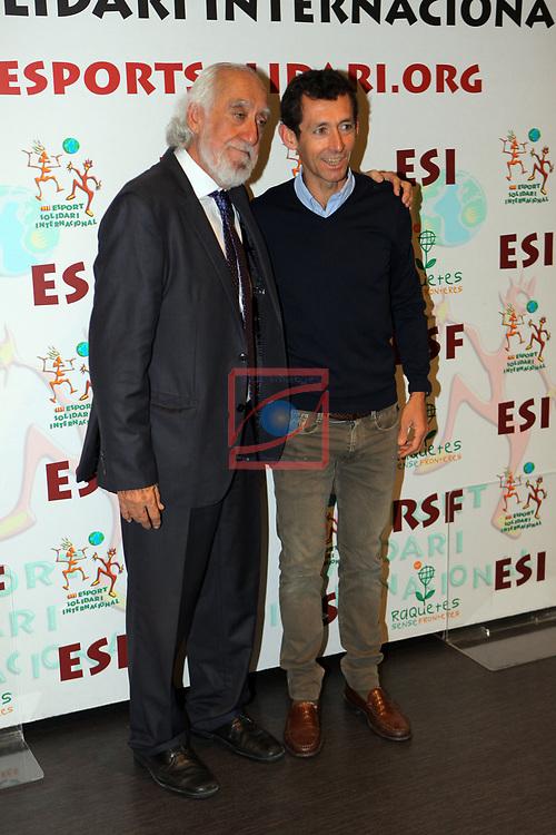XIV Sopar Solidari de Nadal.<br /> Esport Solidari Internacional-ESI.<br /> Josep Maldonado & Roberto Heras.