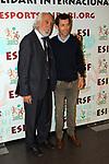 XIV Sopar Solidari de Nadal.<br /> Esport Solidari Internacional-ESI.<br /> Josep Maldonado &amp; Roberto Heras.