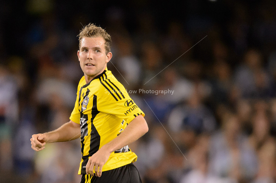 MELBOURNE - 5 NOV: Jeremy BROCKIE of the Phoenix celebrates his goal in the round five A-League match between the Melbourne Victory and Wellington Phoenix at Etihad Stadium on 5 November 2012. (Photo Sydney Low/syd-low.com/Melbourne Victory)