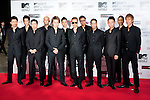 June 23, 2012, Chiba, Japan - Members of EXILE pose on the red carpet during the MTV Video Music Awards Japan event. (Photo by Christopher Jue/AFLO)