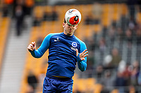 7th March 2020; Molineux Stadium, Wolverhampton, West Midlands, England; English Premier League, Wolverhampton Wanderers versus Brighton and Hove Albion; Lewis Dunk of Brighton & Hove Albion warms-up prior to the match