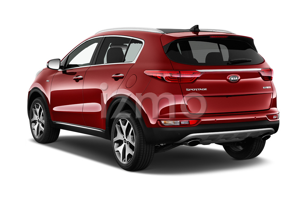 Car pictures of rear three quarter view of a 2019 KIA Sportage SX Turbo 5 Door SUV angular rear