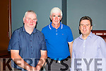 Joe Daly, Donie O'Sullivan and Bazil Sheerin at the Killarney Athletic Seven a side 40th anniversary awards night in McSorleys niteclub on Friday night