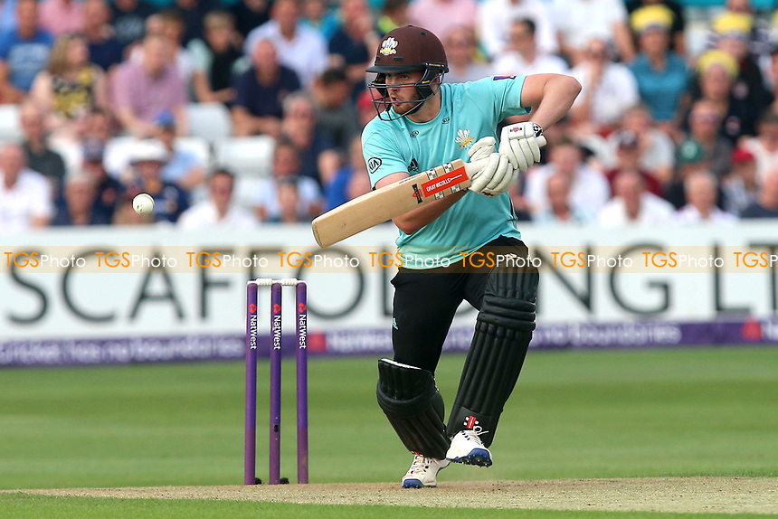 Dominic Sibley in batting action for Surrey during Essex Eagles vs Surrey, NatWest T20 Blast Cricket at The Cloudfm County Ground on 7th July 2017