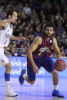 30.12.2012. Barcelona. Liga Endesa jornada 15. EN la foto Victor Sada durante el partido entre EL FC Barcelona contra el Real Madrid en el Palu Blaugrana