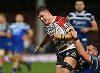 4th January 2020; Kingsholm Stadium, Gloucester, Gloucestershire, England; English Premiership Rugby, Gloucester versus Bath; Jake Polledri of Gloucester is brought to ground just short of the try line - Editorial Use