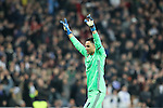 Real Madrid's Keylor Navas celebrates goal during Champions League 2016/2017 Round of 16 1st leg match. February 15,2017. (ALTERPHOTOS/Acero)