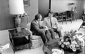 United States President Richard M. Nixon and Governor Ronald Reagan (Republican of California) meet on August 13, 1969..