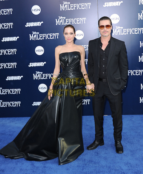 Angelina Jolie and Brad Pitt attends The World Premiere of Disney's &quot;Maleficent&quot; held at The El Capitan Theatre in Hollywood, California on May 28,2014                                                                               <br /> CAP/DVS<br /> &copy;DVS/Capital Pictures