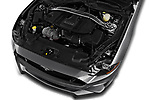 Car stock 2020 Ford Mustang GT Premium 2 Door Convertible engine high angle detail view