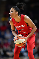 Washington, DC - July 13, 2019: Washington Mystics forward Aerial Powers (23) with the ball during game between Las Vegas Aces and Washington Mystics at the Entertainment & Sports Arena in Washington, DC. The Aces defeated the Mystics 81-85. (Photo by Phil Peters/Media Images International)