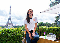 Paris, FRA - June 13, 2019:  The USWNT visited the Fox studios set near the Eiffel tower.