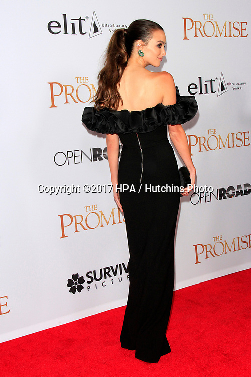 """LOS ANGELES - APR 12:  Charlotte Le Bon at the """"The Promise"""" Premiere at the TCL Chinese Theater IMAX on April 12, 2017 in Los Angeles, CA"""