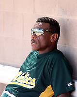 Rickey Henderson - Oakland Athletics - 2010 Instructional League. Hall of Famer Rickey Henderson visits the Athletics complex as a special instructor..Photo by:  Bill Mitchell/Four Seam Images..