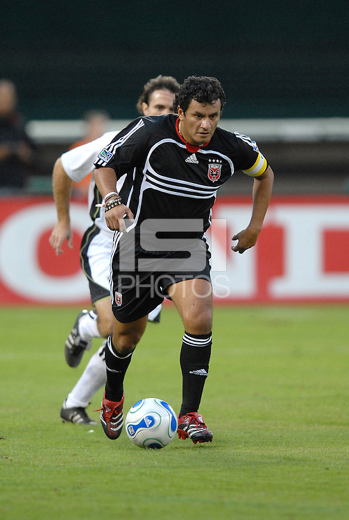 DC United 1997 captain Marco Etcheverry makes his run. DC United 1997 defeated  United of Hollywood 2-1 in a game honoring former DC United forward Bolivian Marco Etcheverry at RFK Stadium in Washington DC, Saturday October 20, 2007.