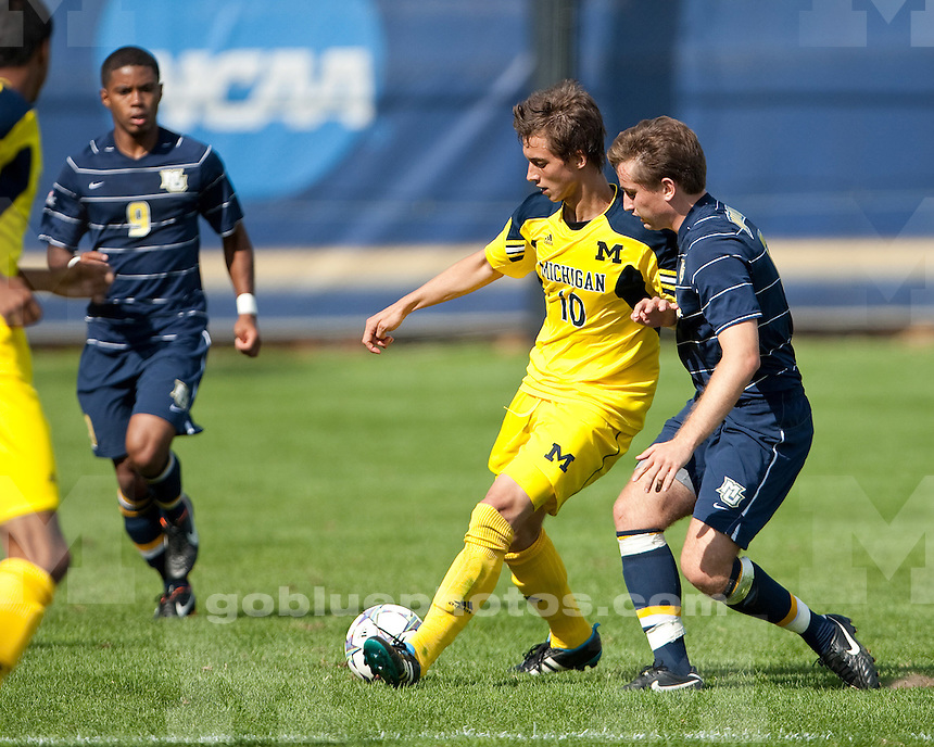 The University of Michigan men's soccer team lost 2-1 in double overtime to Marquette at the UM Soccer Complex in Ann Arbor, Mich., on September 18, 2011.