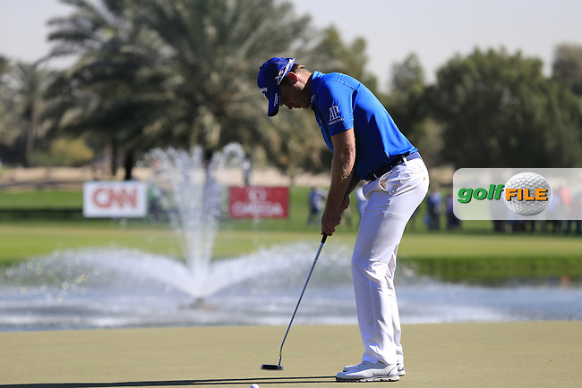 during Sunday's Final Round of the 2016 Omega Dubai Desert Classic held at the Emirates Golf Club, Dubai. 7th February 2016.<br /> Picture: Eoin Clarke | Golffile<br /> <br /> <br /> All photos usage must carry mandatory copyright credit (&copy; Golffile | Eoin Clarke)