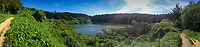 Panorama: Bass Lake, Point Reyes National Seashore, Marin County, California, US