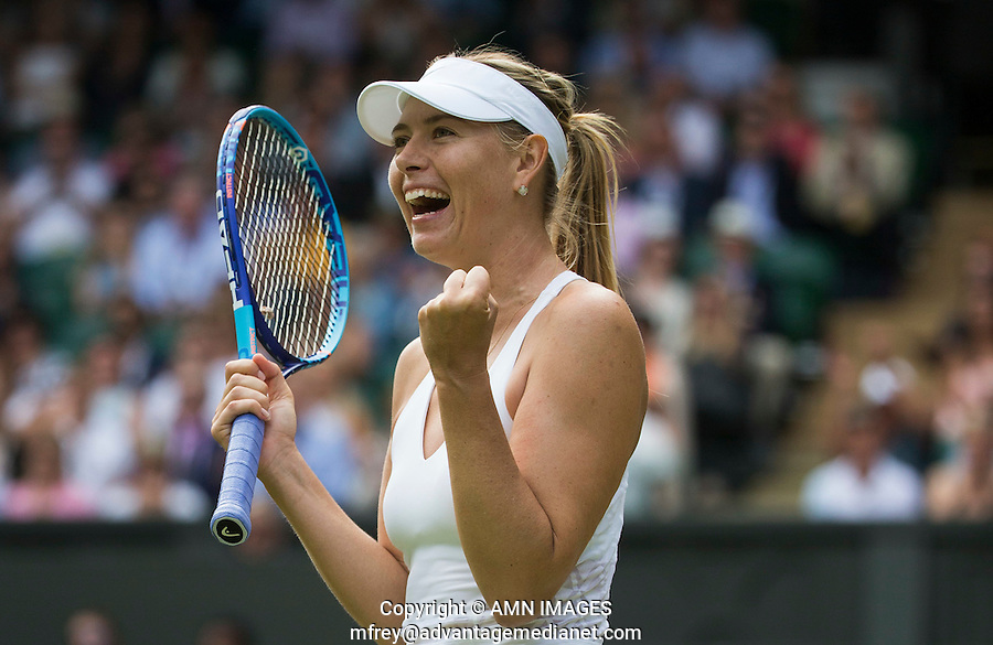 MARIA SHARAPOVA (RUS)<br /> <br /> TENNIS - THE CHAMPIONSHIPS - <br /> WIMBLEDON 2015 -  LONDON - ENGLAND - UNITED KINGDOM - ATP, WTA, ITF <br /> <br /> &copy; AMN IMAGES