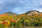 Autumn foliage along the Kancamagus Highway (route 112) in the White Mountains, New Hampshire USA.