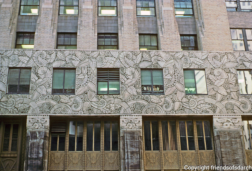 New York: Chanin Building, 1929. Plant forms in terra-cotta bas-relief. Photo '88.