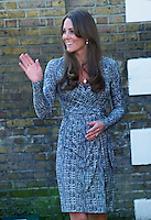 Catherine, Duchess Of Cambridge pregnant visits Hope House - London