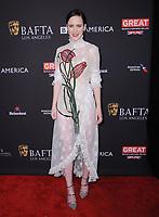 06 January 2018 - Beverly Hills, California - Rachel Brosnahan. 2018 BAFTA Tea Party held at The Four Seasons Los Angeles at Beverly Hills in Beverly Hills. <br /> CAP/ADM/BT<br /> &copy;BT/ADM/Capital Pictures