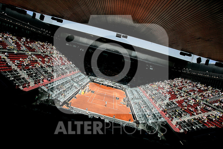 Caja Magica or Magic Box main court during Madrid Open final match. May 16, 2009. (ALTERPHOTOS/Alvaro Hernandez)