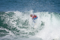 Mick Fanning (AUS) defeated Taj Burrow (AUS) in the final of the 2006 Billabong Pro at Jeffreys Bay, Eatern Cape, South Africa. Photo: joliphotos.com