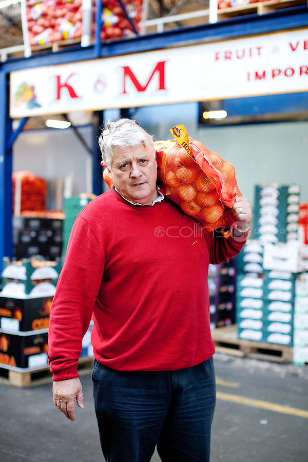26/8/2011. Dublin Fruit and Vegetable Market. Pat Martin of K and M fruit and Vegetable importers is pictured at the Dublin Fruit and Vegetable Market. for over 40 years. Picture James Horan/Collins Photos