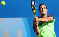 James Ward (Great Britain) during his match versus Grigor Dimitrov (Bulgaria) - Aegon Tennis Championships - 10/06/14 - MANDATORY CREDIT: Rob Newell - Self billing applies where appropriate - 07808 022 631 - robnew1168@aol.com - NO UNPAID USE - BACS details for payment: Rob Newell A/C 11891604 Sort Code 16-60-51