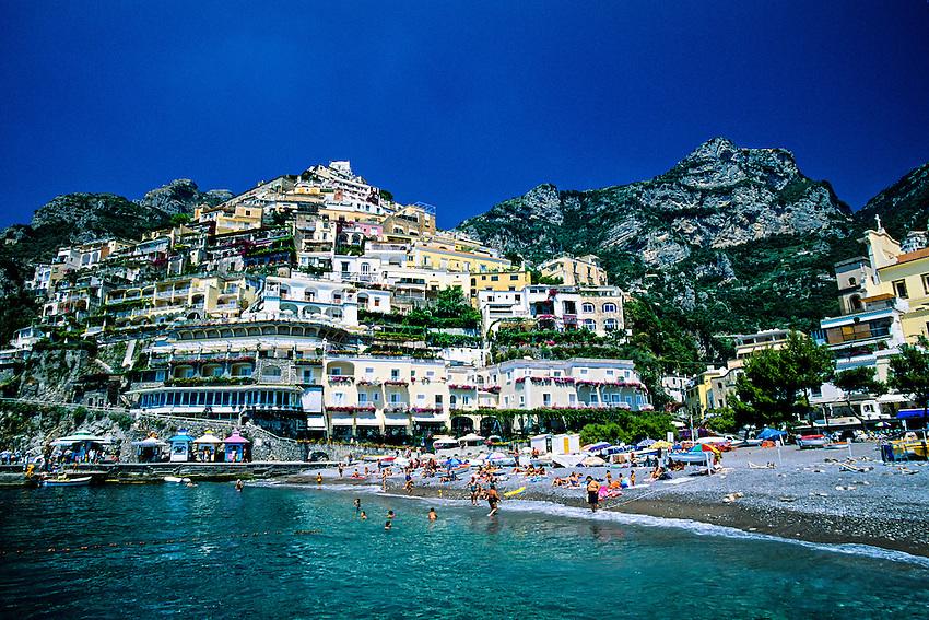 Beach, Positano, Amalfi Coast, Italy