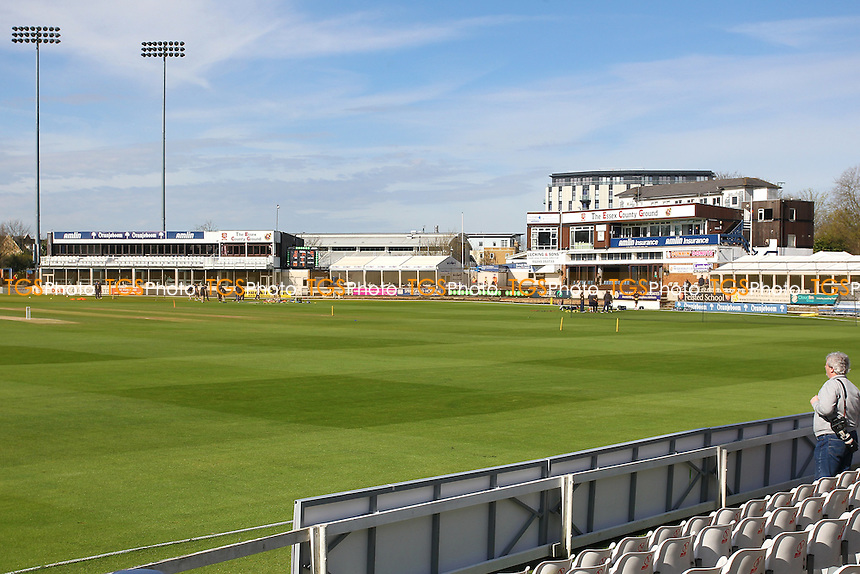 General view of the ground ahead of the start of Essex CCC vs Gloucestershire CCC, Specsavers County Championship Division 2 Cricket at the Essex County Ground on 13th April 2016