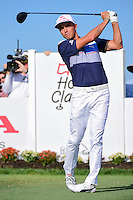 Rickie Fowler (USA) watches his tee shot on 11 during round 3 of the Honda Classic, PGA National, Palm Beach Gardens, West Palm Beach, Florida, USA. 2/25/2017.<br /> Picture: Golffile | Ken Murray<br /> <br /> <br /> All photo usage must carry mandatory copyright credit (&copy; Golffile | Ken Murray)