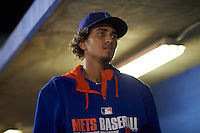 Brooklyn Cyclones pitcher Edioglis Villasmil (3) during the second game of a doubleheader against the Connecticut Tigers on September 2, 2015 at Senator Thomas J. Dodd Memorial Stadium in Norwich, Connecticut.  Connecticut defeated Brooklyn 2-1.  (Mike Janes/Four Seam Images)