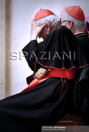 Cardinal,Pope Benedict XVI waves as he leaves his weekly general audience on April 21, 2010 at St Peter's square at The Vatican.