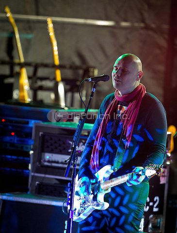 Smashing Pumpkins perform at The Boulevard Pool at  The Cosmopolitan of Las Vegas in Las Vegas, NV on October 8, 2011. Erik Kabik / MediaPunch.