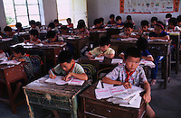 MORE BOYS THAN GIRLS AT SCHOOL IN GUANGDON, CHINA<br /> ©sinopix