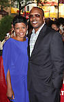 DJ Jazzy Jeff & wife Lynette Townes.attending the opening night of the Broadway limited engagement of 'Fela!' at the Al Hirschfeld Theatre on July 12, 2012 in New York City.