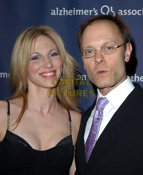 "DEBORAH GIBSON & DAVID HYDE PIERCE.The Alzheimer's Association's 12th Annual ""A Night at Sardi's"" Celebrity Fundraiser held at The Beverly Hilton Hotel in Beverly Hills, California .04 March 2004.*UK Sales Only*.Debbie.www.capitalpictures.com.sales@capitalpictures.com.©Capital Pictures."