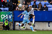 Bolton Wanderers' Ronan Darcy crosses under pressure from Coventry City's Fankaty Dabo <br /> <br /> Photographer Andrew Kearns/CameraSport<br /> <br /> The EFL Sky Bet Championship - Bolton Wanderers v Coventry City - Saturday 10th August 2019 - University of Bolton Stadium - Bolton<br /> <br /> World Copyright © 2019 CameraSport. All rights reserved. 43 Linden Ave. Countesthorpe. Leicester. England. LE8 5PG - Tel: +44 (0) 116 277 4147 - admin@camerasport.com - www.camerasport.com