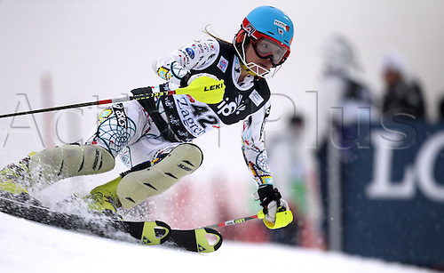 03 01 2012   Ski Alpine FIS WC Slalom for women  Zagreb Croatia  Night slalom Picture shows Emiko Kiyosawa JPN