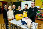 Nohoval NS, Ballymac is one of the First Primary schools to give students a First Aid Course. Pictured l-r  Sean Rice, Adam Walker, Emily O'Brien, Donal Daly and Evan Boyle
