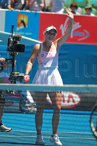21 01 2011  Caroline Wozniacki the Playing The Third Round of The 2011 Australian Open Women s