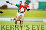 Alan Fitzgerald West Kerry in action against Billy McGuire Legion in the Quarter Final of the Kerry Senior County Championship at Austin Stack Park on Sunday.