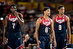 Kennet Faried,Derrick Rose,Demar De Rozan of United States of America during FIBA Basketball World Cup 2014 group C between United States of America vs Turkey  on August 31, 2014 at the Bilbao Arena stadium in Bilbao, Spain. Photo by Nacho Cubero / Power Sport Images