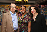 Barry Grove and Lynne Meadow with Condola Rashad during the Sardi's portrait unveiling for Condola Rashad at Sardi's Restaurant on May 10, 2018 in New York City.