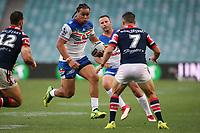 Leivaha Pulu. Sydney Roosters v Vodafone Warriors, NRL Rugby League. Allianz Stadium, Sydney, Australia. 31st March 2018. Copyright Photo: David Neilson / www.photosport.nz
