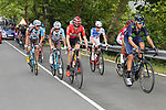 The 20 man breakaway group in action during Stage 18 of the 2017 La Vuelta, running 169km from Suances to Santo Toribio de Li&eacute;bana, Spain. 7th September 2017.<br /> Picture: Unipublic/&copy;photogomezsport | Cyclefile<br /> <br /> <br /> All photos usage must carry mandatory copyright credit (&copy; Cyclefile | Unipublic/&copy;photogomezsport)