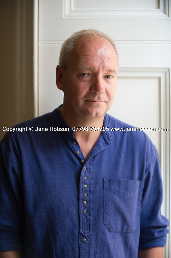 Edinburgh, UK. 09.08.2014.  Comedy writer and author, John O'Farrell, on stage at the Assembly Rooms, where he is appearing as part of Edinburgh Festival Fringe. Photograph © Jane Hobson.
